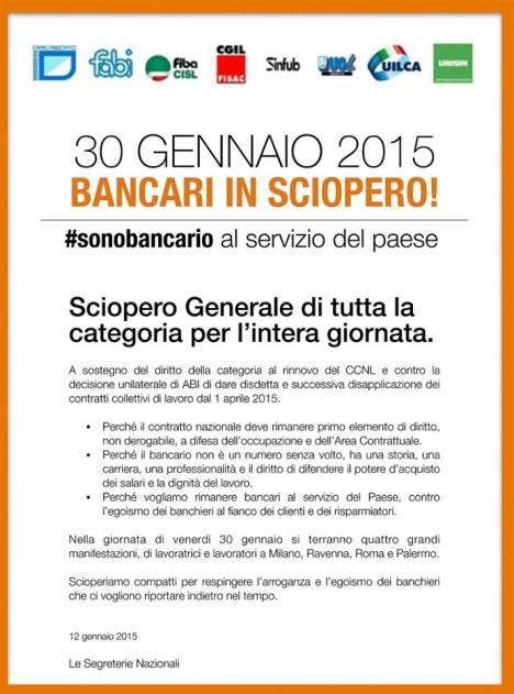 Sciopero 30 gen 2015